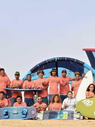 windsurf course session à Dakhla Lagoon avec ION CLUB