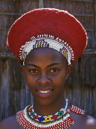Jeune femme Zoulou en Afrique du Sud