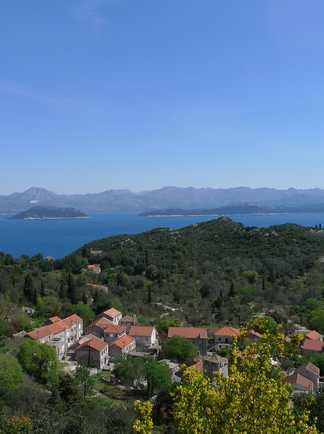 La nature sauvage de l'île de Mljet, Croatie, Dalmatie