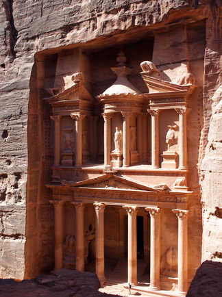 Le Khazneh à Pétra en Jordanie