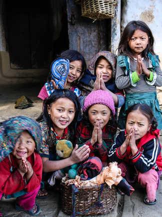 enfants népal namaste
