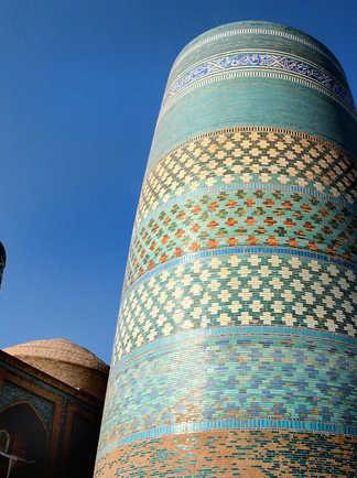 minaret à Khiva