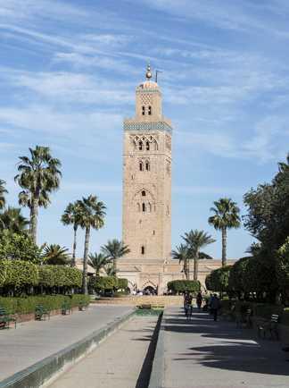 Minaret de la Koutoubia à Marrakech au Maroc