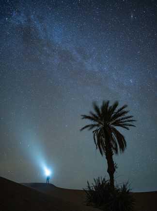 Nuit étoilée dans le désert marocain