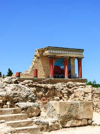 Palais minoen de Cnossos en Crète