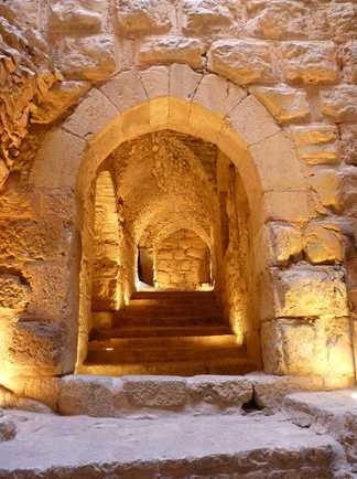 Passage vouté, Ajlun, Jordanie