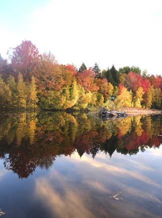 Paysage d'automne, été indien au Québec