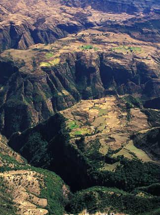 Paysages du parc national du Simien en Ethiopie