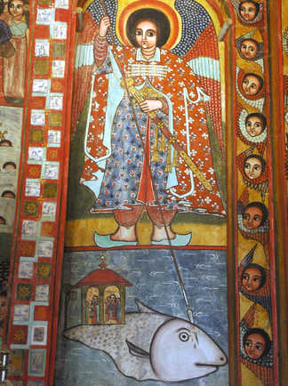 Peinture dans une église du nord éthiopien