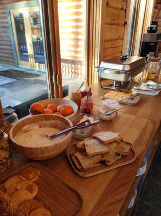 Petit déjeuner à l'auberge du camp taureau, Québec