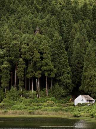 Petite maison au bord d'un lac, proche de Lagoa, sur l'île de Sao Miguel, aux Açores