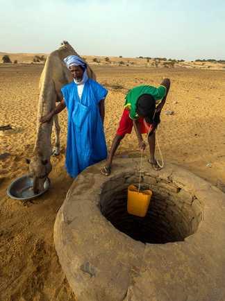Plein d'eau au puits, Mauritanie