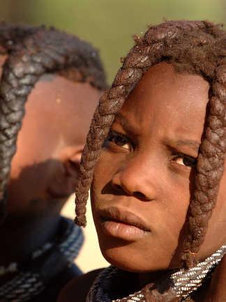 Portait d'un enfant Himba