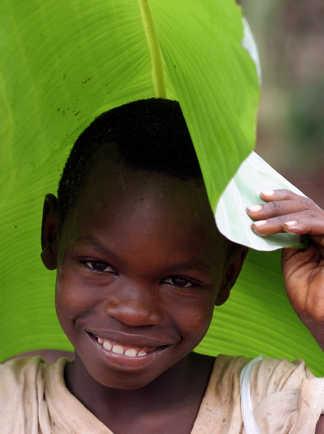 Portrait d'enfant au Kenya