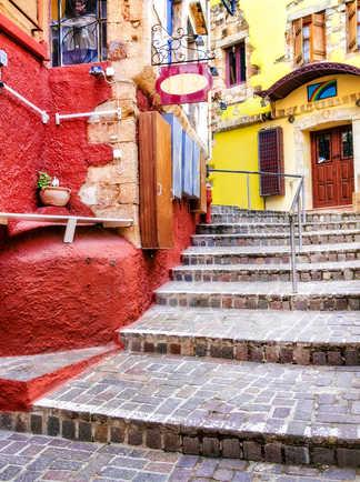 Ruelles de Chania en Crète
