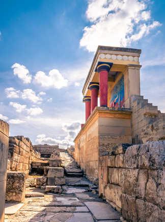 Ruines du palais Knossos en Crète