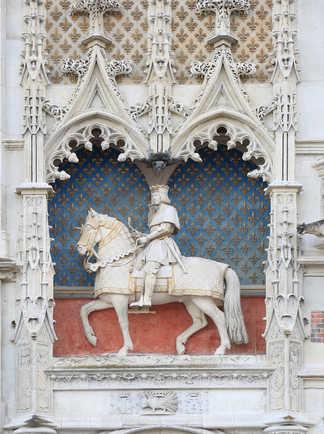 Sculpture de François Ier à cheval, château de Blois, Val de Loire