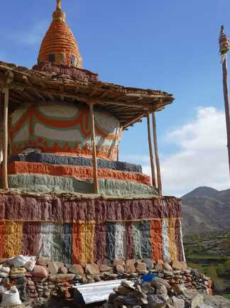 Stupa coloré du Haut Mustang