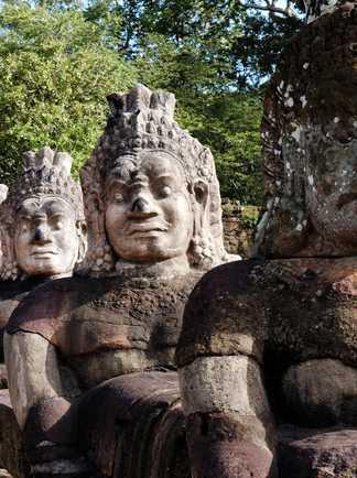 angkor, Bayon, Siem Rep, Cambodge, trek