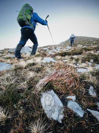 Trekking en Irlande, ascension