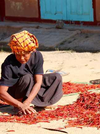Une femme de l'ethnie Pao rencontrée lors du trek en pays Shan