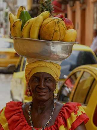 Vendeuse de fruit à Carthagène