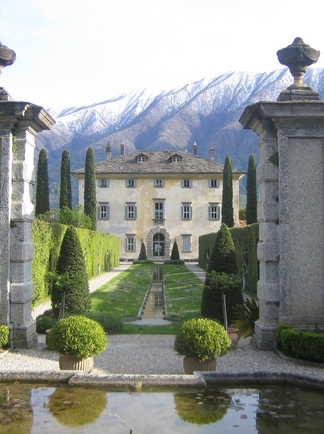 Villa lac de Côme en Italie