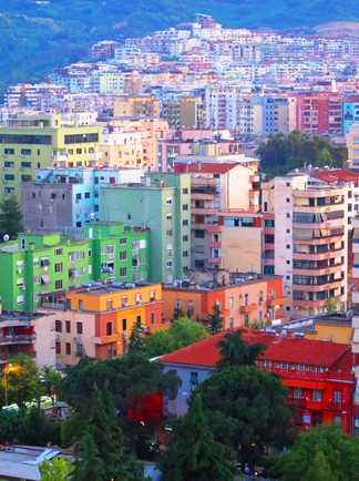 Ville de Tirana la capitale de l'Albanie