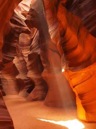 Vue de l'intérieur de l'Upper Antelope Canyon