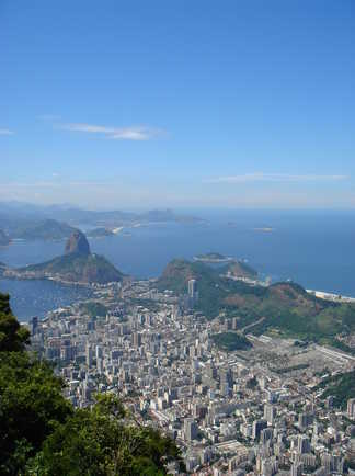 Vue sur le Pain de Sucre à Rio