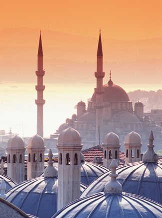 Vue sur les toits de la ville d'Istanbul en Turquie