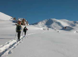 randonnée, alpes, raquettes; haute vallée de la claré