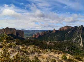vue panoramique de formations géologiques