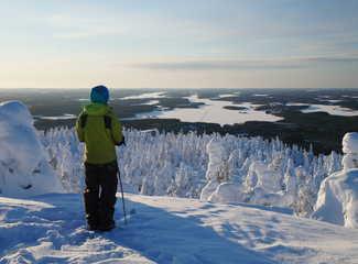 Ski de fond dans la taiga