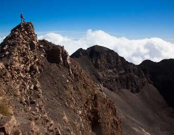 Au sommet du volcan Fogo
