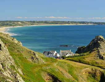 Baie de Saint Ouen sur l'île de Jersey