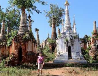 Balade sur le temple d'Indein