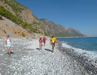 Crète, randonnée en bord de mer entre Loutro et Agia Roumeli