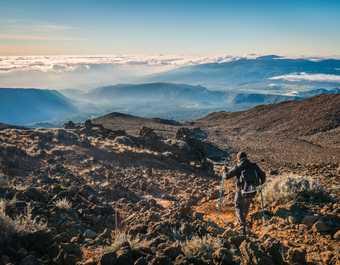Descente du Piton des Neiges à la Réunion