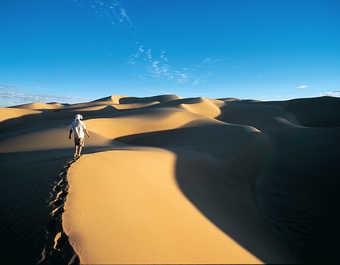 Dunes au coucher, erg Ouarane, Mauritanie