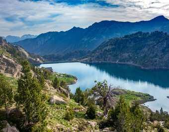 Espagne, parc d'Aigues Tortes, lac des Encantats