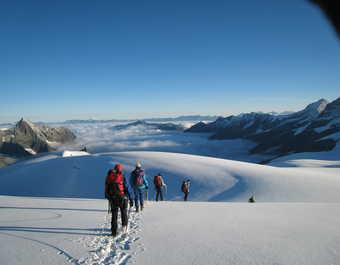 suisse, randonnée, chamonix, glaciers, alpes