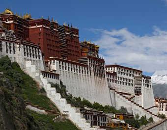 Le palais du Potala à Lhassa