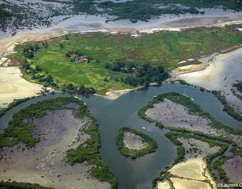 Les méandres du fleuve Saloum dans le parc du Sine Saloum
