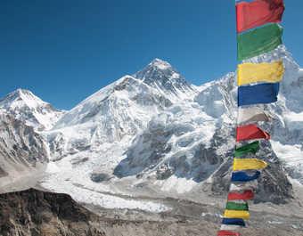 Panorama sur l'Everest, depuis le sommet du Kala Pattar
