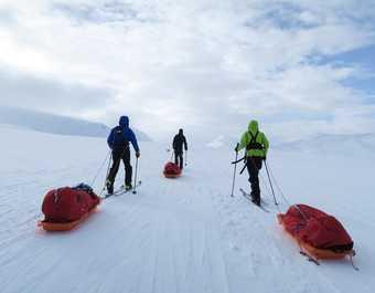 Randonnée à ski en Suède
