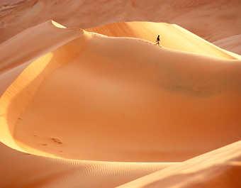 Randonnée dans le désert de Rub El Khali à Oman
