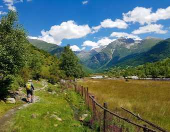 Randonnée en Svanetie en Géorgie