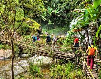 Randonneurs en Thaïlande