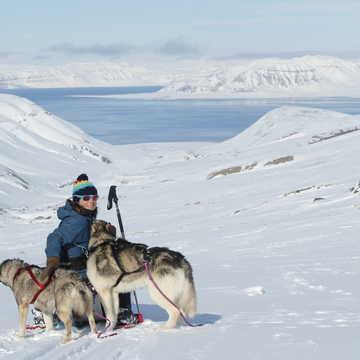 Aurélia Lanoe, guide arctique au Spitzberg